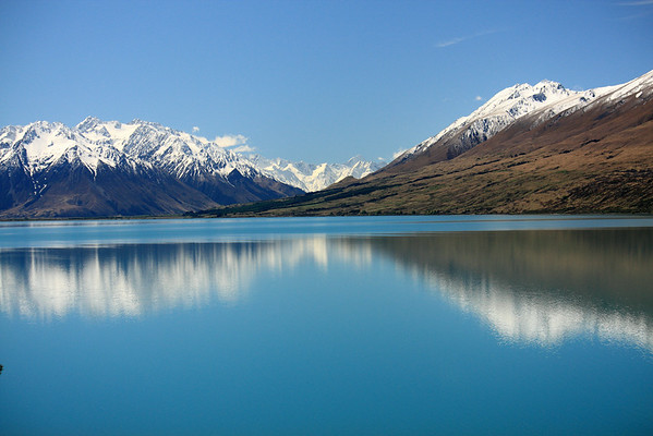 New Zealand South Island Lake Ohau Reflections