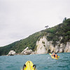 Sea Kayaking.  Arches in rock formation (which we later went through)
