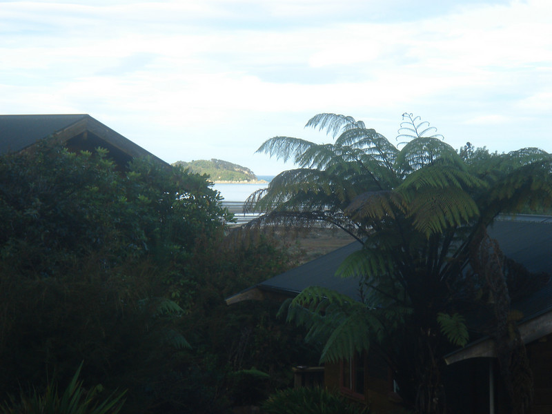View from our chalet, Ocean View Chalets.