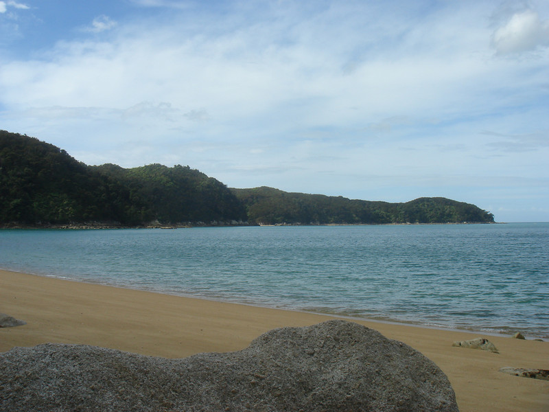 One of the beaches we stopped along the track.  We had to climb down quite a ways from the track to get to this beach.