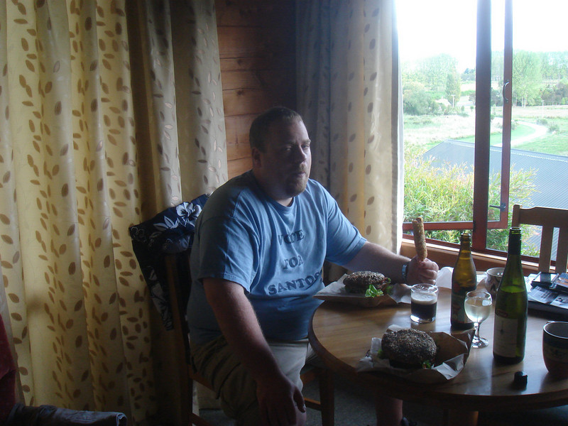 Me after sea kayaking.  Pretty sure this is the most tired and sore I've been.  Time for some Fat Tui fuel.