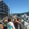 Auckland Harbor, near where we ate brunch.  Lots of $$$$$ yachts.