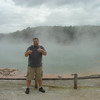Wai-O-Tapu Thermal Park.  Huge Technicolor Steaming Lake.