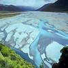 11011-65005 Arthurs Pass scenery. Meandering river braids of the Upper Waimakariri River *