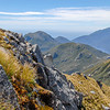 DSC_0336 Fiordland scenery. A lone tramper on a ridge on Secretary Island *