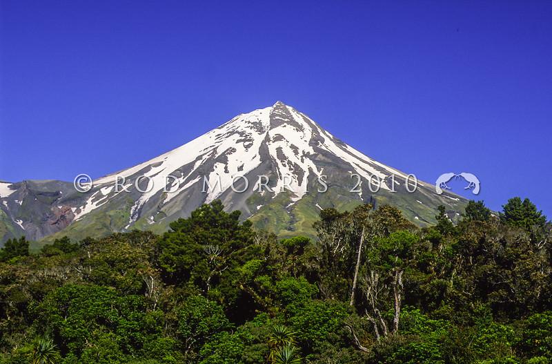 11011-05006 Mount Taranaki beneath a clear blue sky *