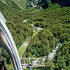 11001-41902 Fiordland scenery. View of river flats and lower Sinbad Gully from helicopter *