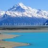 11011-54113  Aoraki/Mount Cook (3754m) NZ's highest peak, viewed from Lake Pukaki, with the Tasman River delta in mid-distance *