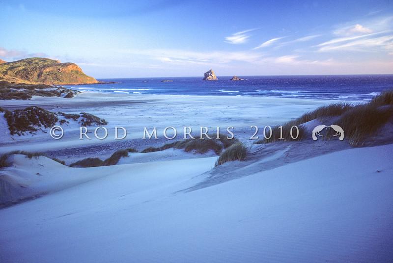 11011-80021  Otago Peninsula scenery. Evening at Sandfly Bay *