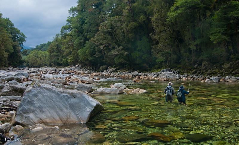 Scott and John on a wilderness river