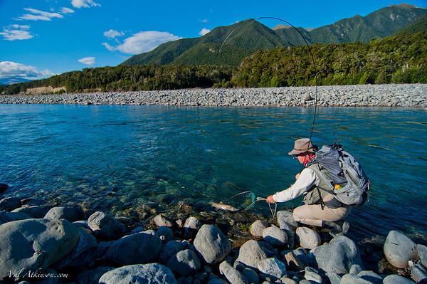 Scott Murray on the Wairau River.