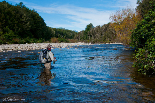 Scott Murray on Larry's Creek.