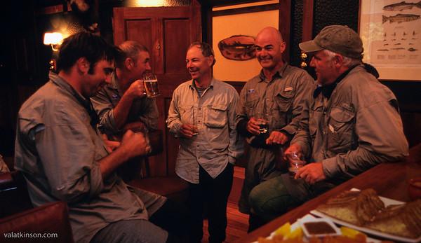 lake rotoroa lodge guides belly up to the bar
