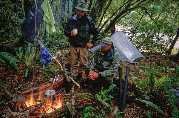 tony entwhistle and i spending 3 days in a tent during a storm on the roaring lion..