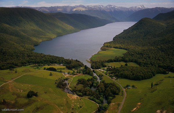 overview of lake rotoroa lodge