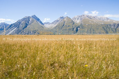 Aoraki-Mt Cook, plains and range.