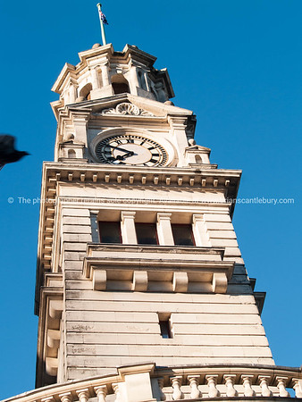 Auckland Town Hall clock tower. New Zealand Images.