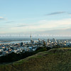 Auckland CBD from Mount Eden, Skytower stands above the rest.