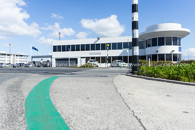 Auckland Airport  path between international and domestic terminals