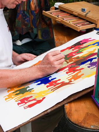 Artist at work.