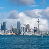 Auckland city skyline frome Stanley Bay on North Shore