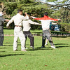 Cornwall Park, tai chi followers practicing umongst the park trees.