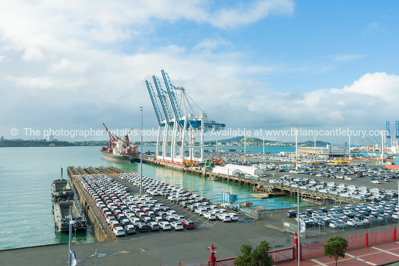 Port of Auckland car import wharf