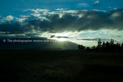 Benmore Range, Omarama, Central Otago at sunrise.