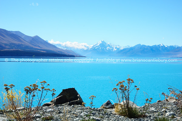 Lake Tekapo, in Canterbury's Mackenzie Basin, New Zealand.