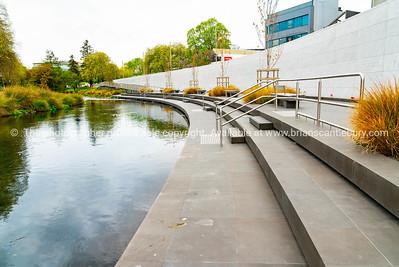Canterbury Earthquake Memorial on side of Avon River
