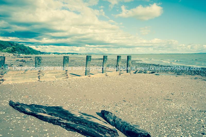 Tararu Beach, Thames, Coromandel. Split tone treatment.