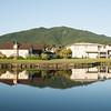 Resort development homes and lake. Golf course lake, Pauanui. Lakes Golf Resort. New Zealand images.