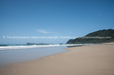 Idyllic beach, Pauanui, New Zealand.