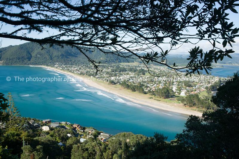 Coromandel Peninsula Pauanui below.