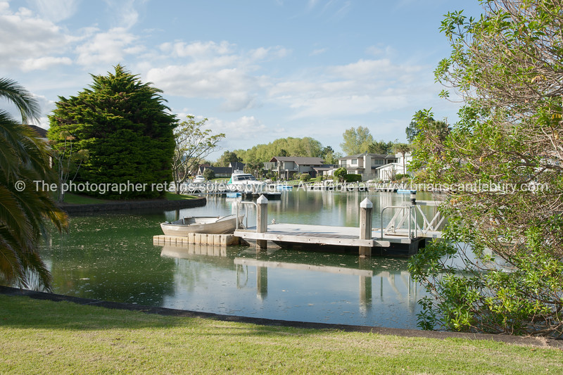 Pauanui Waterways residential area. New Zealand Images.