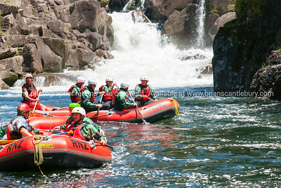 Damian, Amanda, Kevin, Scotty, Phil Rafting on Wairoa, Tauranga, New Zealand.
