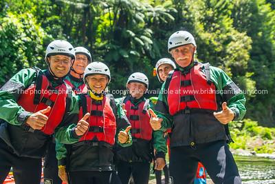 Wairoa River Rafting - the guys.