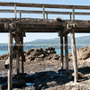Old Hicks Bay Wharf. New Zealand images.