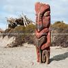 Maori carving on Ohope Beach