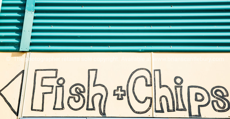 Fish and Chips sign.