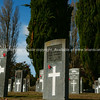 Cemetery, Headstones with Anzac poppies in the Hamilton East Cemetery.