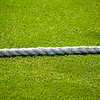 Boundary rope at cricket match.