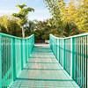 Teal bridge.