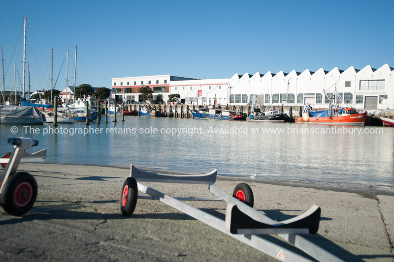 Napier harbour scene.