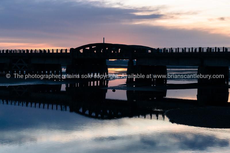 Bridge silhouette.