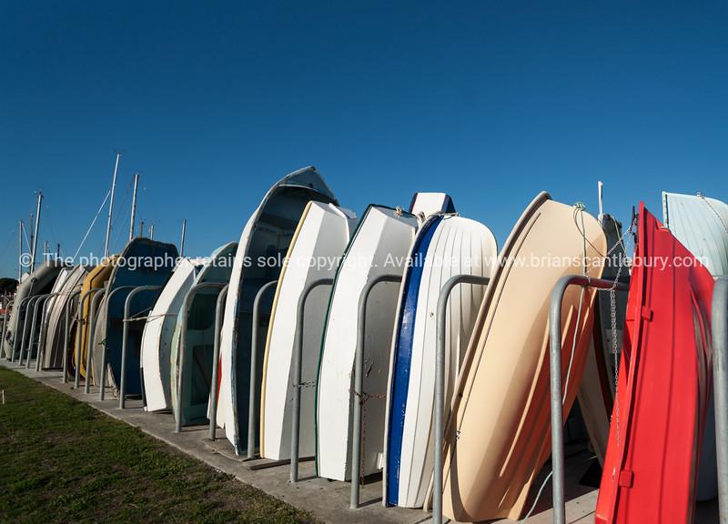 Dinghy rack on Napier harbour front.