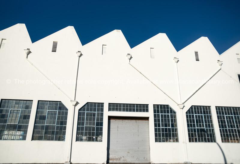 Old industrial buildings. Napier, New Zealand.