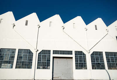 Old industrial buildings. Napier, New Zealand.