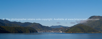 Picton,  Marlborough, New Zealand, in distance. New Zealand images.