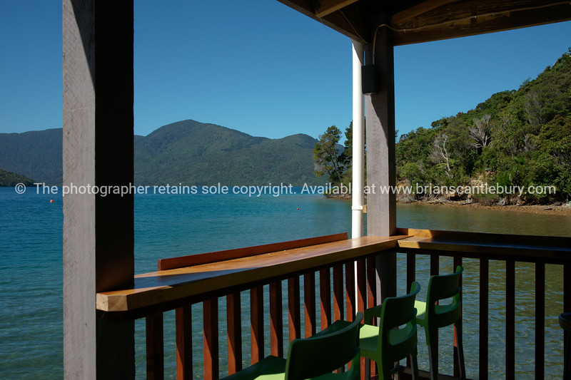 South Island scenic view, from Punga Cove Resort. New Zealand photographic stock images. South Island.